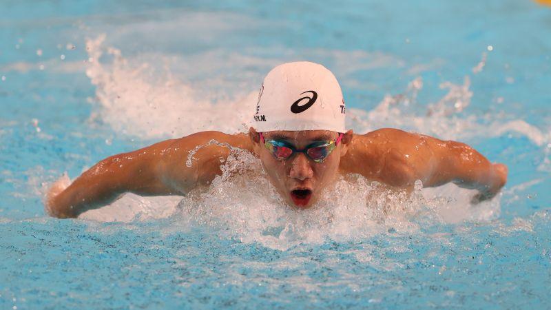 ▲已拿到奧運游泳A 標的我國名將「建中蝶王」王冠閎,今(2)日在模擬東京奧運對抗賽亮相。(圖/國訓中心提供)