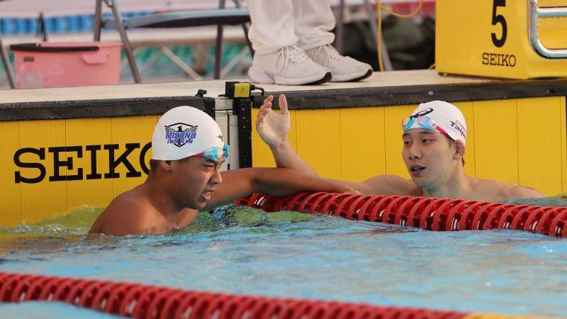 ▲已拿到奧運游泳A