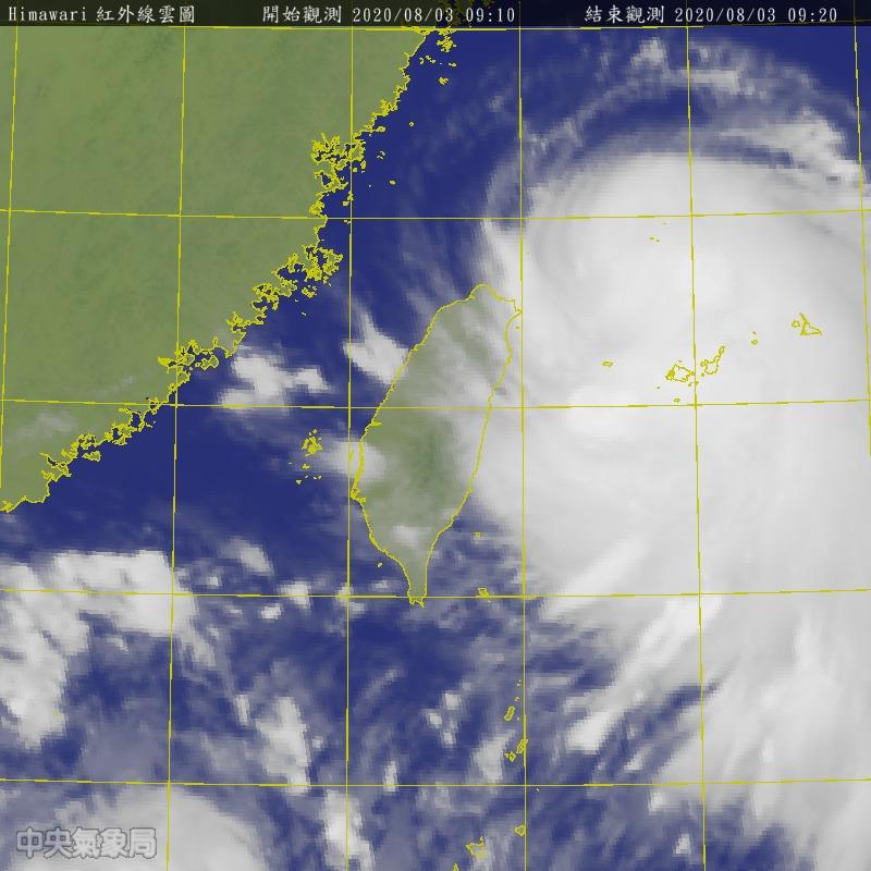 直播/暴風圈籠罩東北海面 氣象局說明哈格比最新狀況