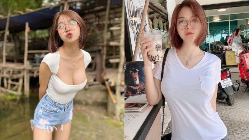 泰國圓框眼鏡傻白甜爆紅 網友大讚臉蛋和身材反差大