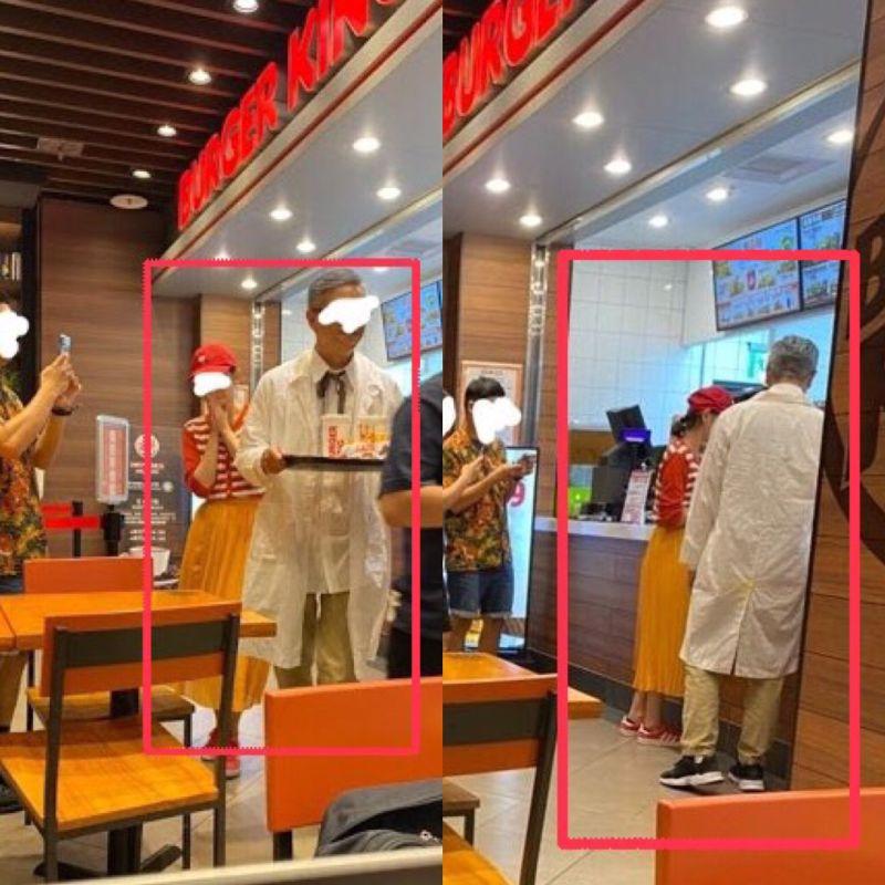 ▲網友分享自己去漢堡王用餐時,看見女生穿得像麥當勞,男生穿得像肯德基爺爺。(圖/翻攝自PTT)