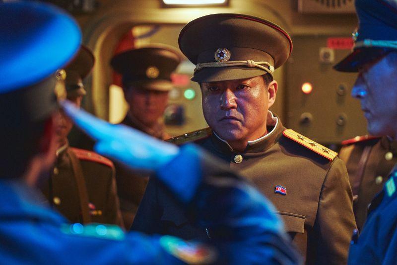 ▲《鋼鐵雨:深潛行動》郭度沅飾演北韓護衛總局長。(圖/甲上娛樂)