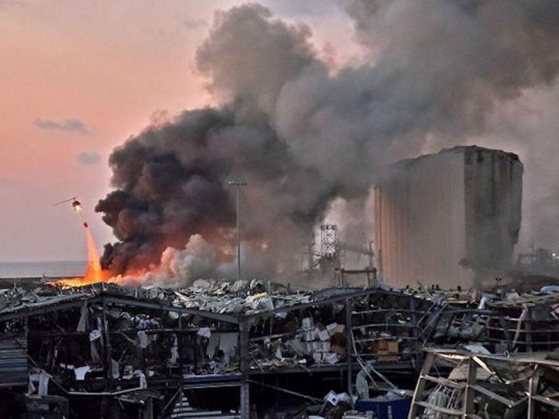 ▲黎巴嫩8/4發生嚴重爆炸。(圖/翻攝自