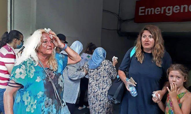 ▲黎巴嫩當地醫院湧入大量受傷民眾。(圖/翻攝自