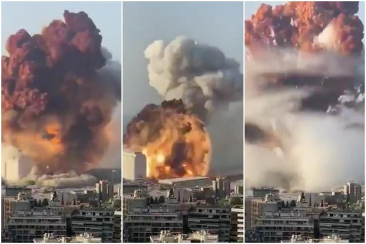 ▲當地媒體報導,港口發生爆炸後,疑似出現二次爆炸。(圖/翻攝自影片)