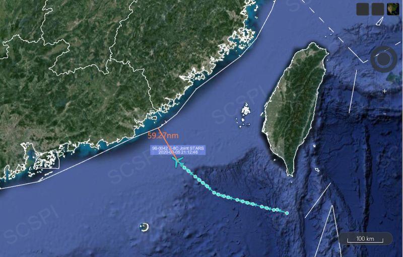 美軍機E-8C首次夜間逼近<b>廣東</b> 7月統計航行任務高達67起