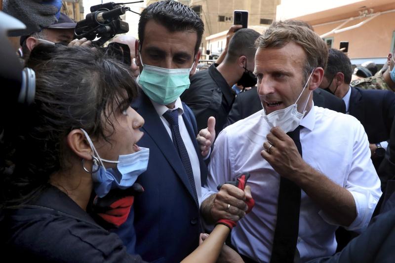 <b>馬克宏</b>呼籲黎巴嫩改革 民眾要求法國接手治理