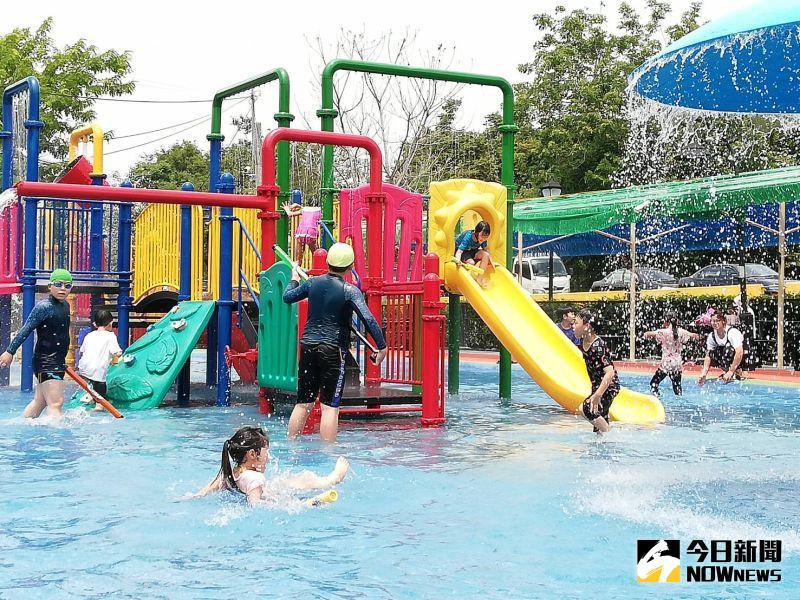 升級版兒童戲水區開幕