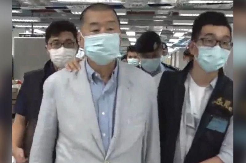 遭港警逮捕、壹傳媒大樓被搜 黎智英:無法擔心太多
