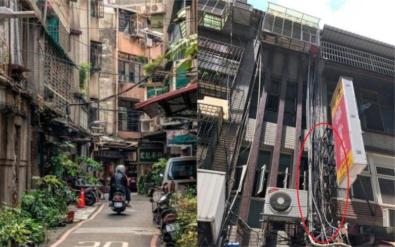 台北<b>老公寓</b>外牆驚見「線路迷宮」!眾曝真相:是惡性循環