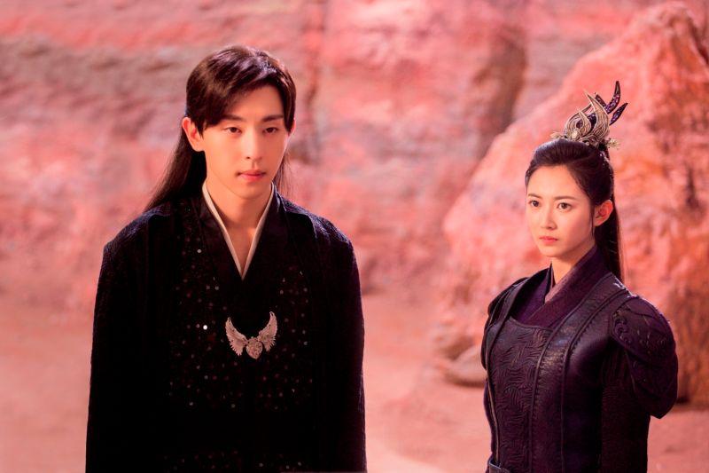 ▲《香蜜沉沉燼如霜》陳鈺琪和鄧倫(左)合作。(圖