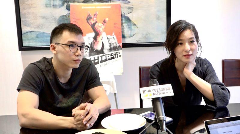 ▲王逸帆導演(左)選擇賴雅妍,冥冥中註定。(圖/記者朱永強攝)