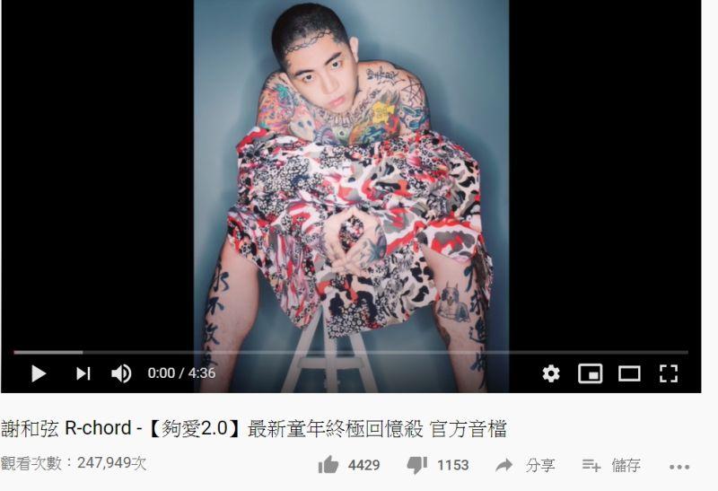 ▲謝和弦日前發出新單曲《夠愛2.0》已侵權。(圖