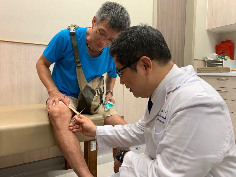 男子靜脈曲張10年腫脹麻痛 微創勾除手術後健步如飛