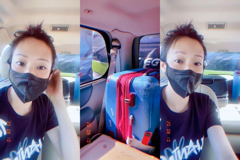 ▲在高速公路遭追撞後,袁詠琳立刻錄影報平安。(圖/袁詠琳微博)