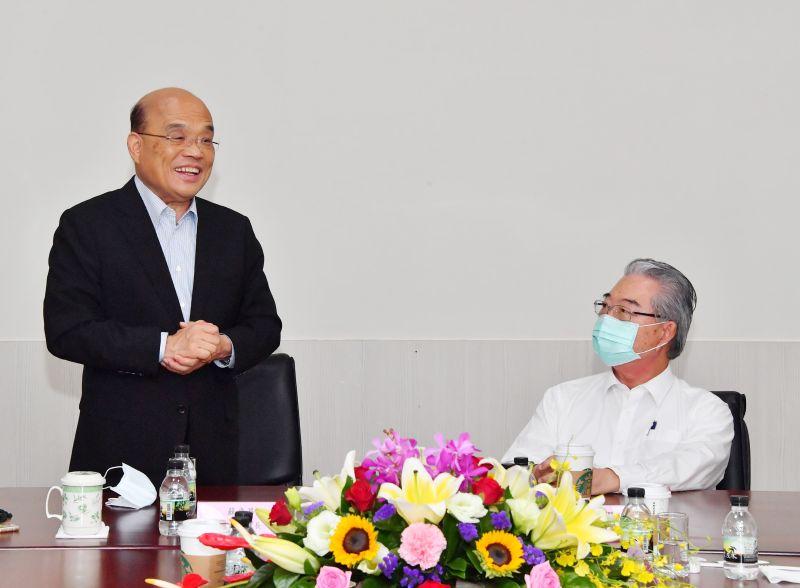 蘇貞昌參訪仁寶電腦平鎮廠