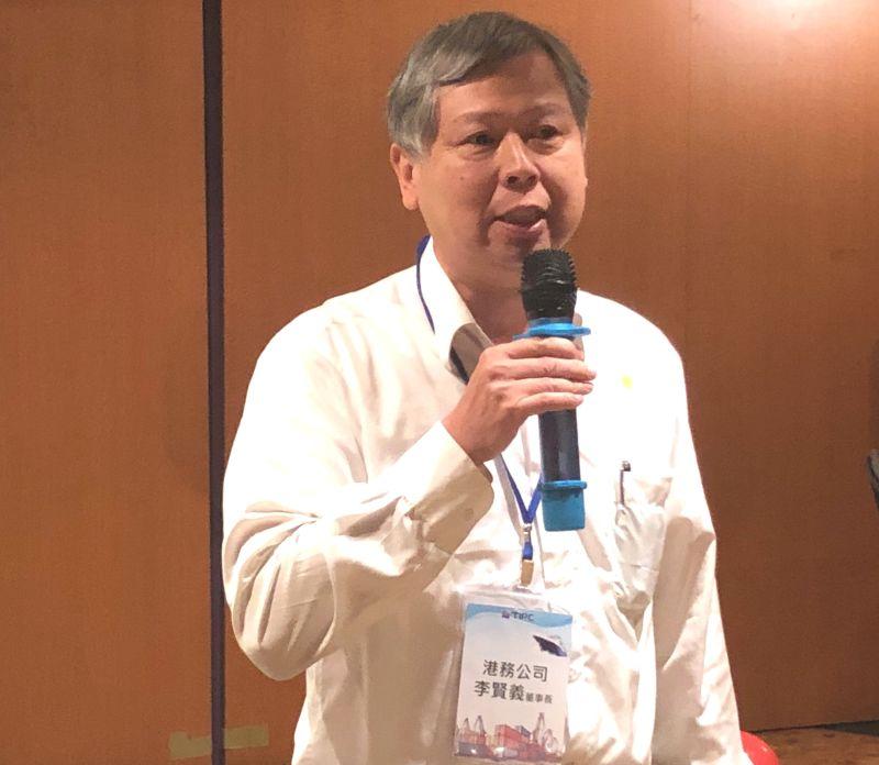 ▲台灣港務公司董事長李賢義說明該公司在疫情衝擊下,仍表現亮眼的作為。(資料照/記者黃守作攝)