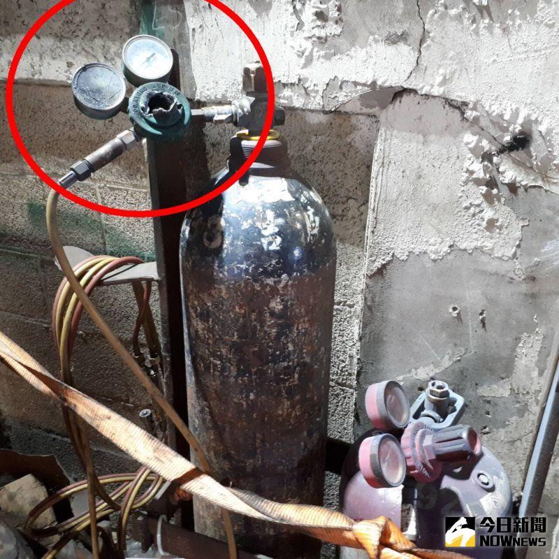 ▲全興工業區傳出疑似工安意外,初步懷疑可能是氧氣鋼瓶壓力閥爆開。(圖/記者陳雅芳翻攝,2020.08.13)