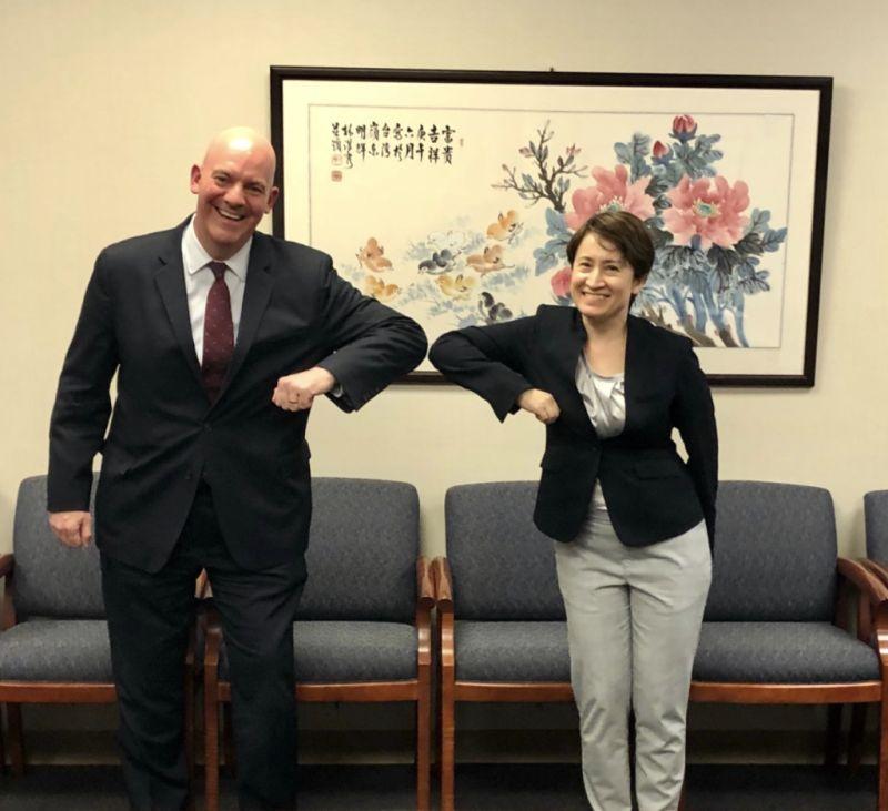 蕭美琴自稱「<b>台灣駐美大使</b>」適當嗎?他分析:2字需斟酌