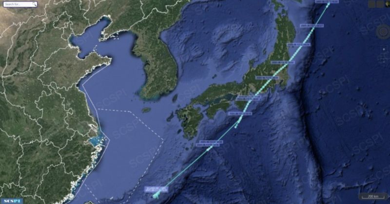 ▲中國「南海戰略態勢感知計畫」平台指出,美國軍機昨從內布拉斯加州起飛,一路飛達亞洲。(圖/取自SCS