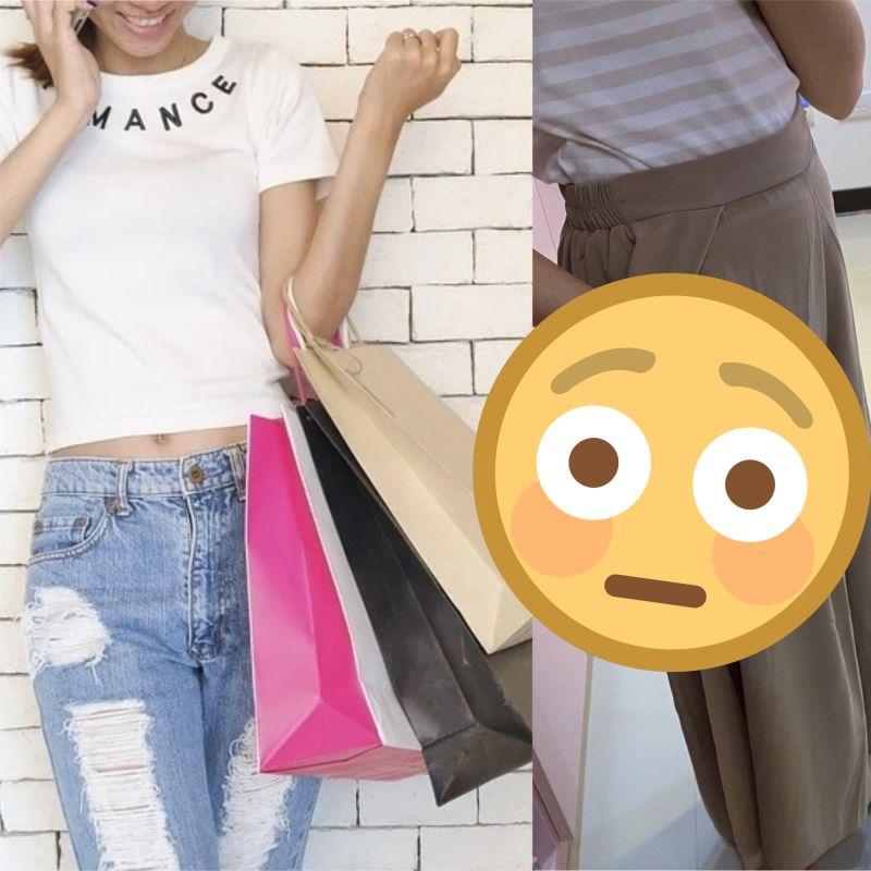 ▲網友分享在購買時,要注意寬褲的設計,因為可能一不小心就走光。(圖/翻攝自pexels 及Dcard)