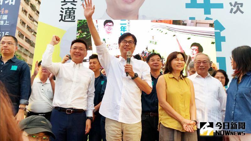 高雄市長補選陳其邁一路領先 大贏李眉蓁42萬票