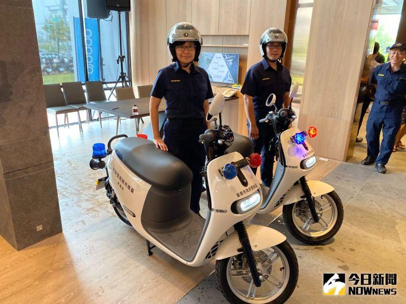 ▲電動警用巡邏車。(圖/記者陳聖璋攝,2020.08.15)