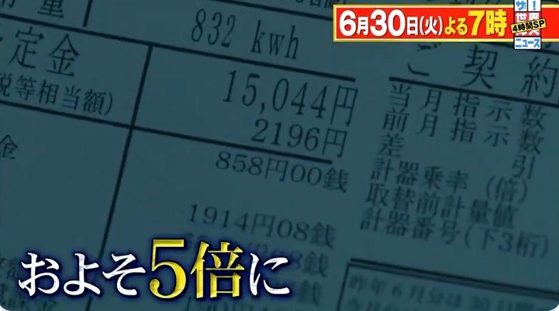 ▲櫻田愛實家中電費離奇爆漲。(圖/ザ!世界仰天ニュース推特)