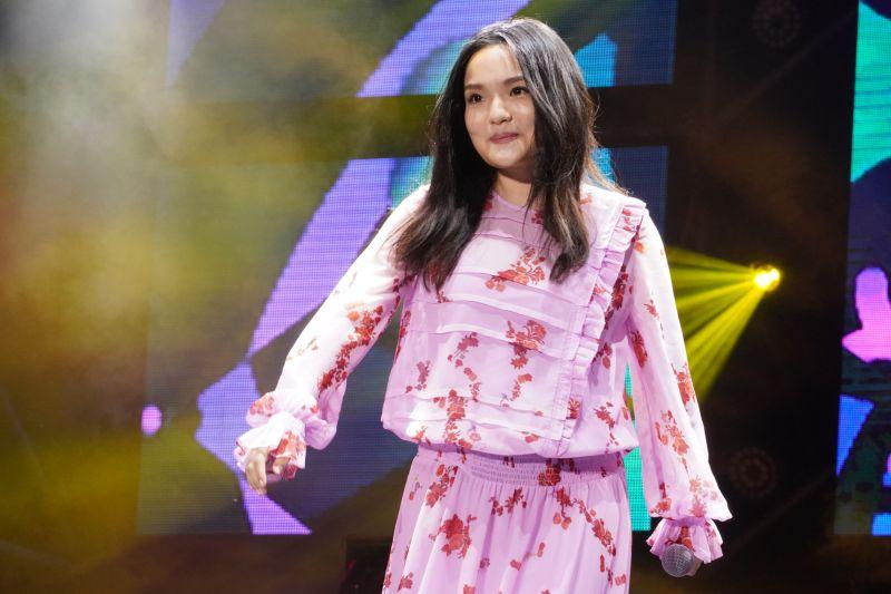 ▲徐佳瑩不敢動感唱跳,因為要給肚裡的兒子安全的「避震系統」。(圖/台南市觀光傳播局提供)
