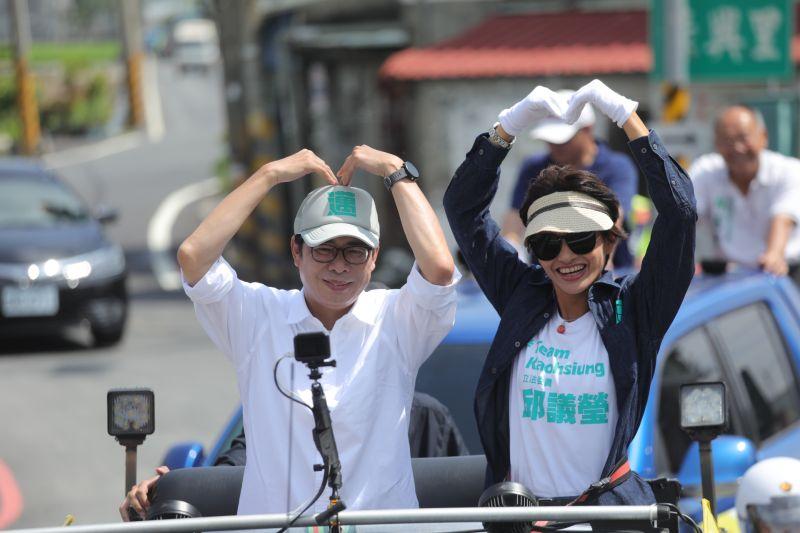 藝人陳珮騏恭喜當選 陳其邁:非常喜歡看她的戲劇