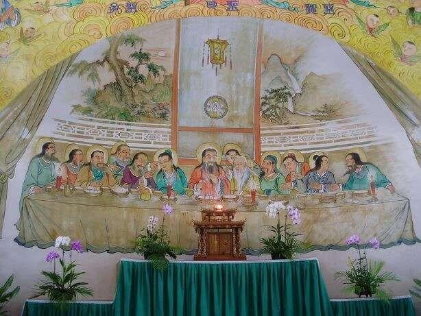 ▲牆上畫作「最後的晚餐」(圖 台南旅遊網)