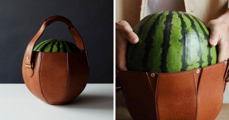 ▲土屋鞄製造所推出義大利頂級皮革製「西瓜提袋」。(圖|翻攝自土屋鞄製造所官網)