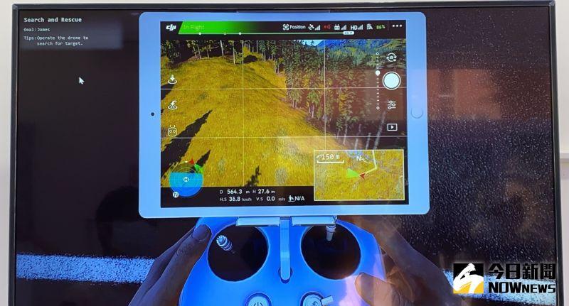 ▲無人機模擬訓練畫面。(圖/記者陳聖璋攝,2020.08.19)
