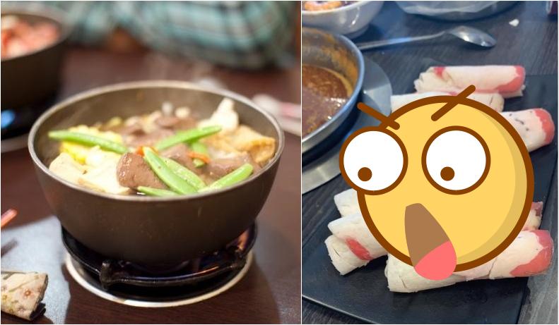 ▲有網友用餐時,店家送上「雪地等級」的牛肉片。(圖/翻攝Flickr/臉書《爆怨公社》)
