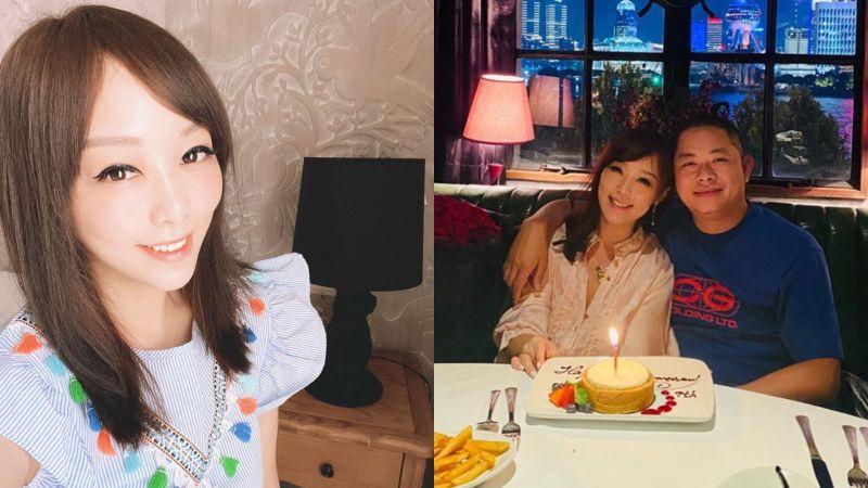 ▲小蜜桃與富豪尪慶祝結婚9週年。(圖/小蜜桃臉書)