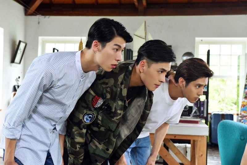 ▲許光漢(左起)洪堯、胡宇威主演《那刻的怦然心動》。(圖