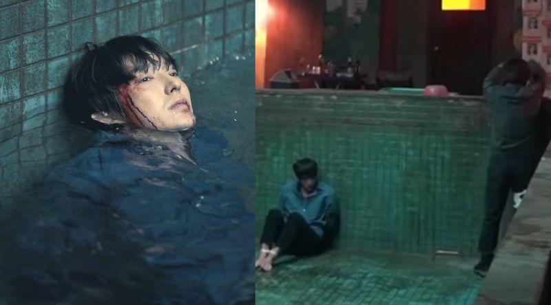 ▲李準基(左)不愛用替身,受困水中戲碼自己來。(圖/LINE TV)