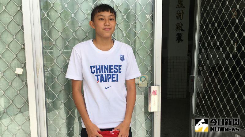▲年僅15歲被譽為「天才少女」、「流川楓」的張聿嵐今年入選U18中華隊。(圖/鍾東穎攝 ,2020.08.21)