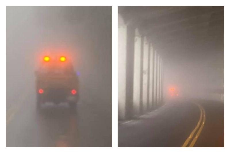 ▲網友透露自己在阿里山遇到大霧,幸好有陌生人好心「引路」。但適逢鬼月,網友的遭遇讓大家不禁緊張,以為是撞邪。(圖/翻攝自《爆廢公社》臉書)