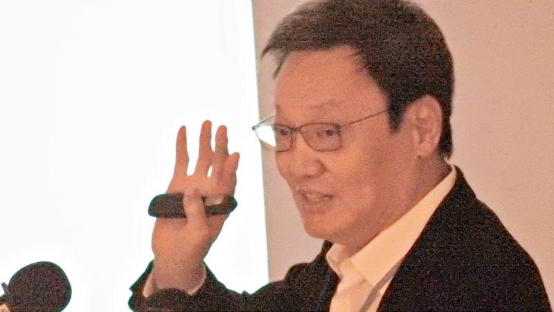 前國安會祕書長蘇起22日出席「國家不安全研討會」時分析,如果中共犯台,美國總統川普不會來救台灣。(圖/記者陳弘志攝,2020.08.22)