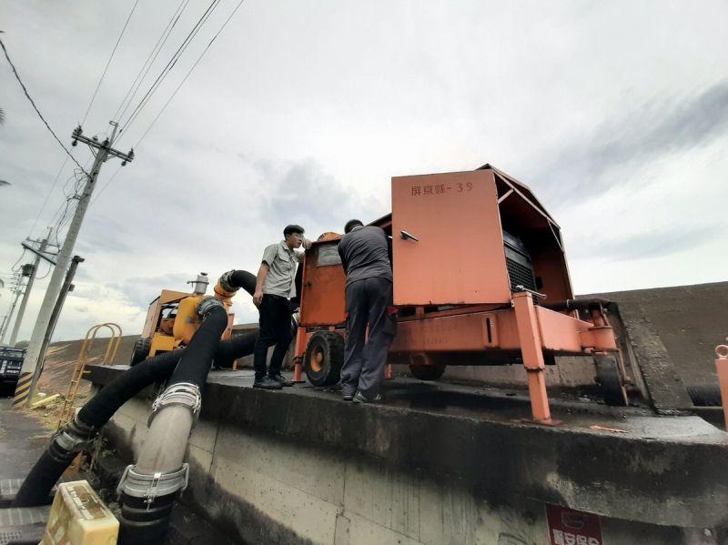 巴威颱風海警發布 水利署第七河川局加強<b>防汛</b>應變