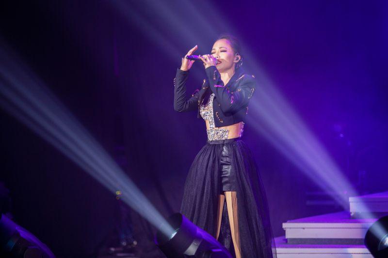 ▲戴愛玲在台北國際會議中心開唱。(圖/媒體棧提供)