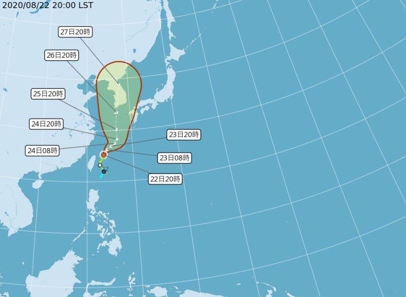 巴威颱風往東北方移動暴風圈將逐漸遠離台灣