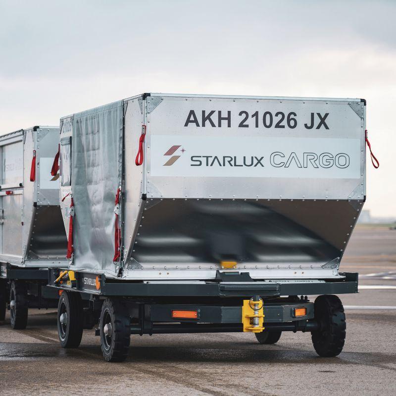 ▲禮盒造型是將航空集裝箱
