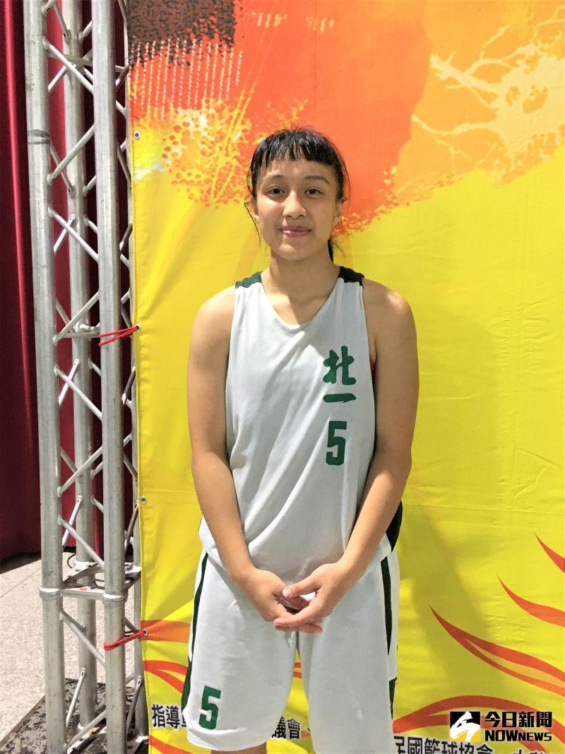 ▲北一女中「閃電俠」宋瑞蓁帶著HBL「新人后」光環入選U18中華隊,表現依舊搶眼。(圖/鍾東穎攝