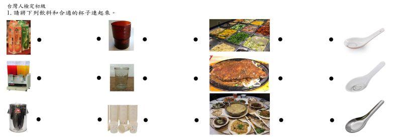 ▲來自噗浪匿名討論串的「台灣人檢定考」一時成為話題,不少網友就升級連連看難度,除了飲料、杯子外,更增加了對應的餐桌和餐具。(圖/翻攝自PTT)