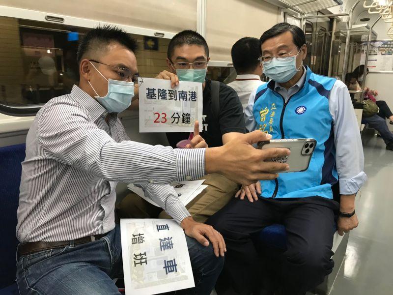 <b>謝國樑</b>帶藍委視察 反對廢除台鐵基隆站
