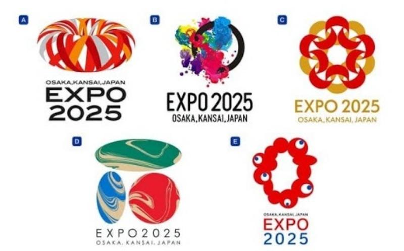 2025大阪世界博覽會Logo曝光!全場傻眼:選了個最醜的