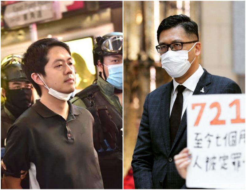 ▲許智峯、林卓廷兩人今日(8/26)被香港警方逮捕。(圖/翻攝自許智峯、林卓廷臉書)