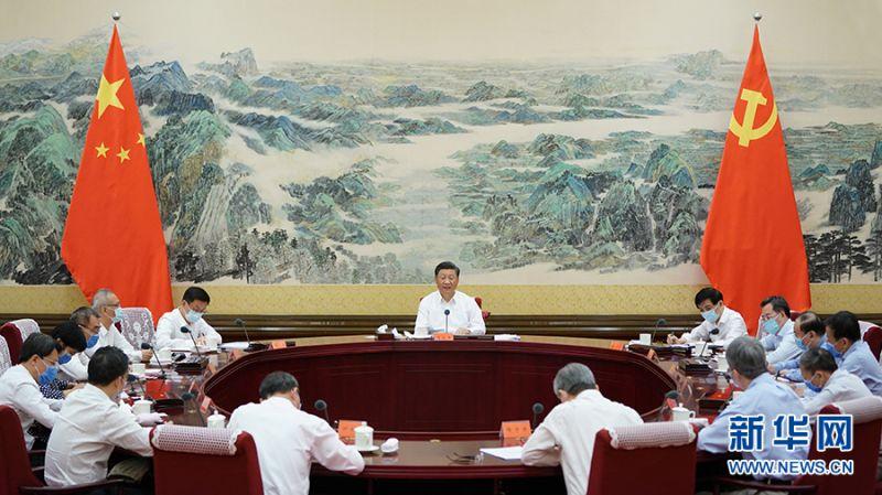 ▲中國國家主席習近平24日召開經濟社會領域專家座談會。(圖/翻攝自新華網)